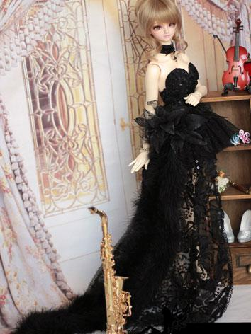 BJD Clothes Black Dress Sui...