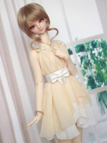 BJD Clothes Light Yellow Dr...