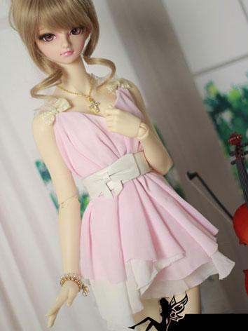 BJD Clothes Pink Dress【Ling...