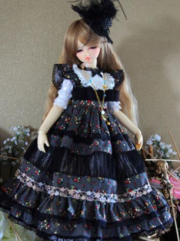 BJD Clothes Black&White Dre...