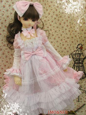 BJD Clothes Pink Dress Suit...