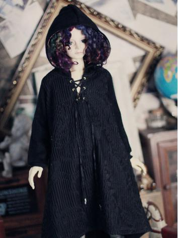 BJD Clothes Black Miko Coat for 70cm/SD13/SD17 Ball-jointed Doll
