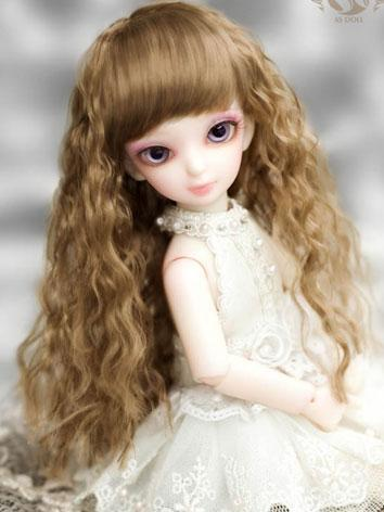 【Limited Edition】BJD Wig Moonlight Princess Brown Wig WG61009 for YO-SD Size Ball-jointed Doll