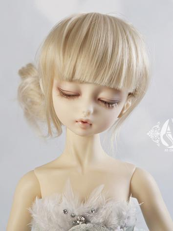 【Limited Edition】BJD Girl 1/4 Golden-yellow Wavy Bouncy Ponytail WG4130802 for MSD Size Ball-jointed Doll