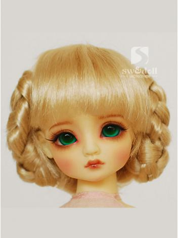 BJD Wig Girl Gold/Brown JW076 for SD/MSD Ball-jointed Doll