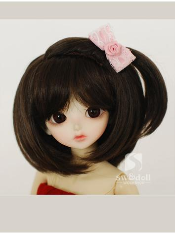 BJD Wig Girl Coffee JW077 f...