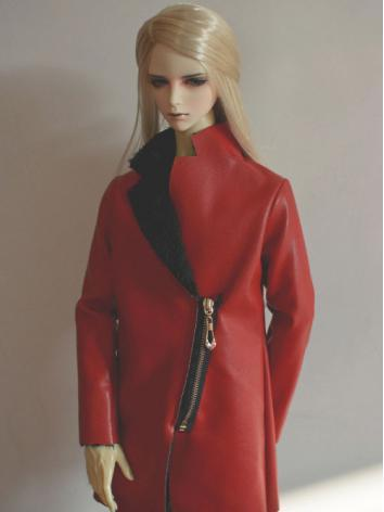BJD Clothes Red&Black Leath...