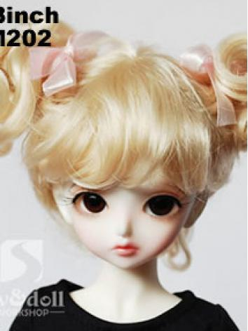 BJD Wig Girl Brown/Gold 【JW012】 for MSD/YSD Ball-jointed Doll
