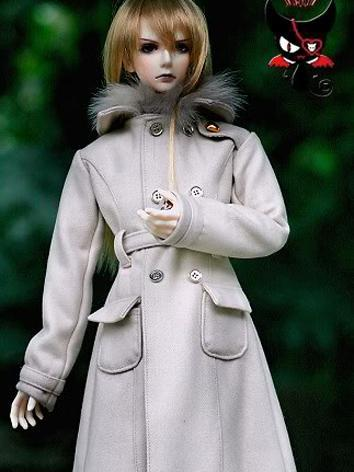BJD Clothes Boy Long Coat f...