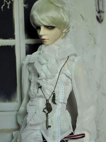BJD Clothes Boy Erope Style White Shirt for MSD/SD/SD17/70cm Size Ball-jointed Doll