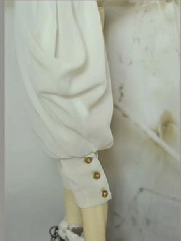 BJD Clothes Boy Europe Style White Pants for MSD/SD/SD17/70cm Size Ball-jointed Doll