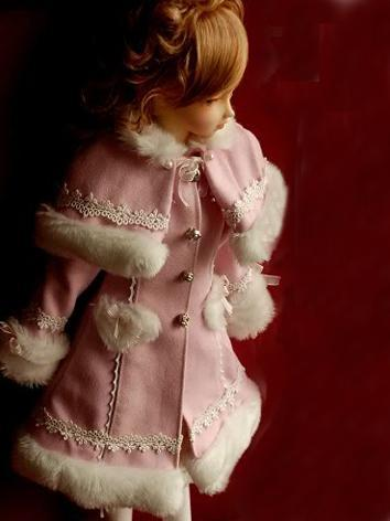 BJD Clothes Cute Girl White/Pink lolita Coat for MSD/SD Size Ball-jointed Doll