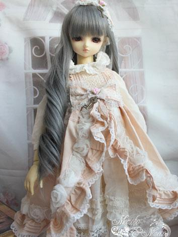 BJD Clothes Sweet Girl Pink Dress Suit 【Flower bud】for SD/MSD/YSD Ball-jointed Doll