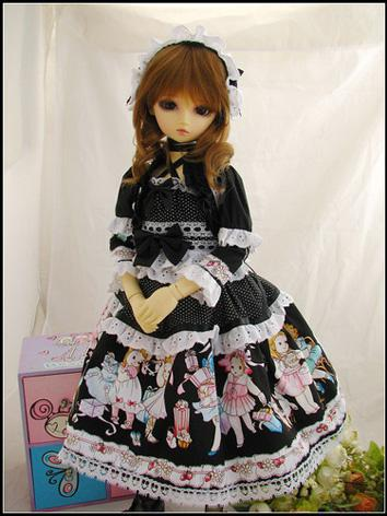 BJD Clothes Sweet Girl Black Dress Suit for SD/MSD/YSD Ball-jointed Doll