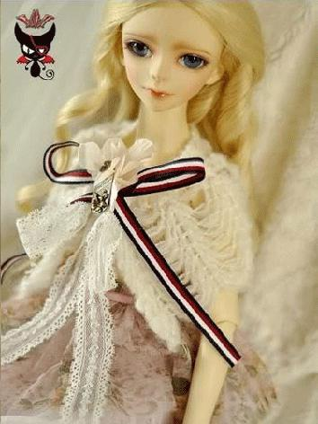 BJD Clothes Cute Girl black Cloak for MSD/SD Size Ball-jointed Doll