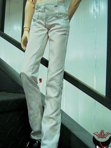 BJD Clothes Boy White Pants...