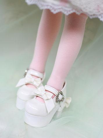 Bjd Shoes HIgh-heel White Lolita Shoes for MSD Size Ball-jointed Doll