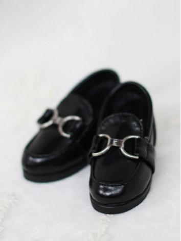 Bjd Shoes Boy White/Black Flat Shoes for MSD Size Ball-jointed Doll