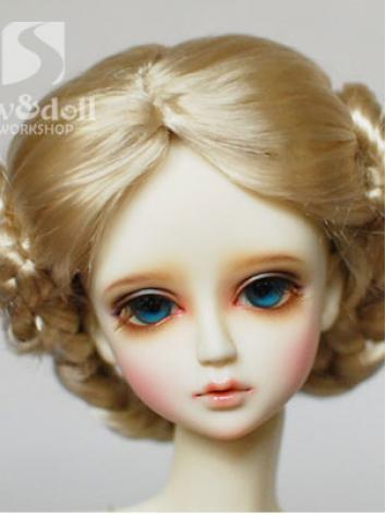 BJD Wig Gold/Brown Wig JW06...