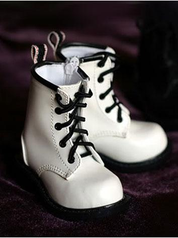 BJD Shoes Boy White Short B...