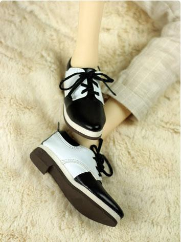 BJD Shoes Boy White&Black S...