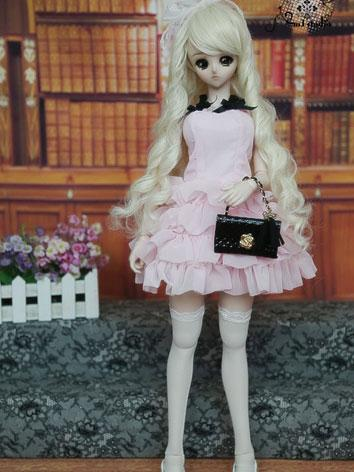BJD Clothes Pink/White One-...