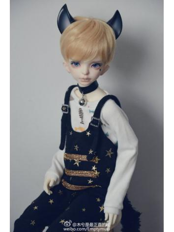 BJD Clothes Boy/Girl Black White Overall Trousers for SD/MSD Ball-jointed Doll