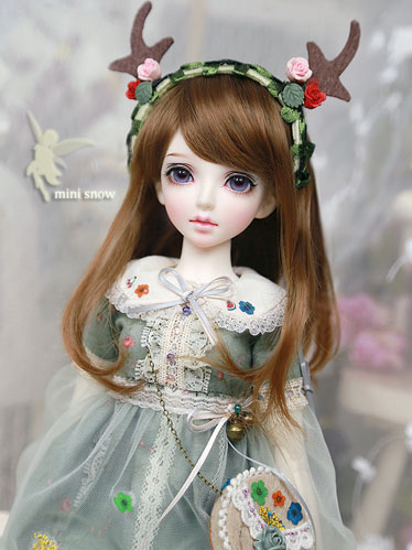 1//3 Bjd Doll Erica-snow Girl With Free Face Make up Free Eyes