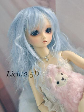 BJD Girl Blue Curly Wig for...