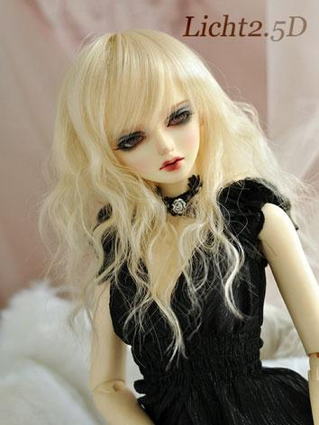 BJD Girl Gold Curly Wig for...