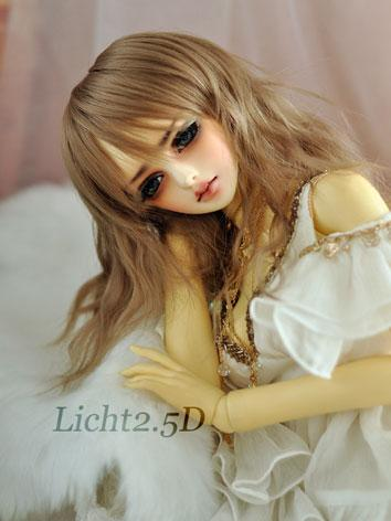 BJD Girl Brown Curly Wig fo...