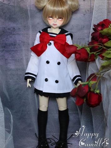 BJD Clothes Girl Sailer Sui...