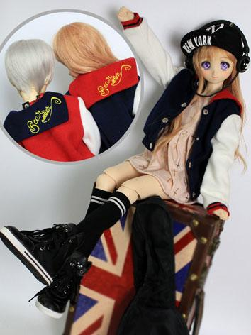 BJD Clothes Boy/Girl Black/Red Baseball Coat for SD/70cm Ball-jointed Doll