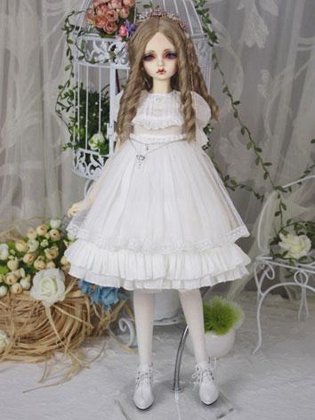 Bjd Clothes Girl Pure White Dress for SD16/SD10/MSD Ball-jointed Doll