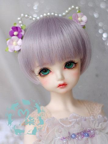 BJD Wig Boy/Girl Light Purple Wig for SD/MSD Size Ball-jointed Doll