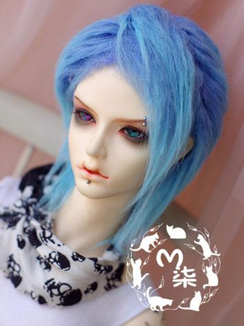 BJD Wool Wig Blue Wig for 7...