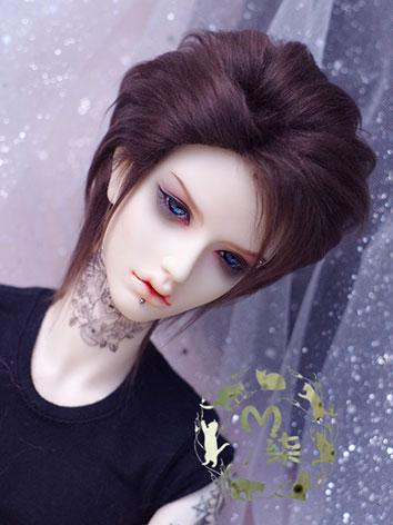 BJD Wool Wig Dark Brown Wig...