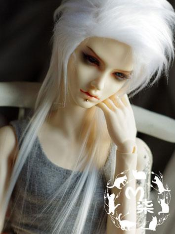 BJD Wool Wig White Wig for ...