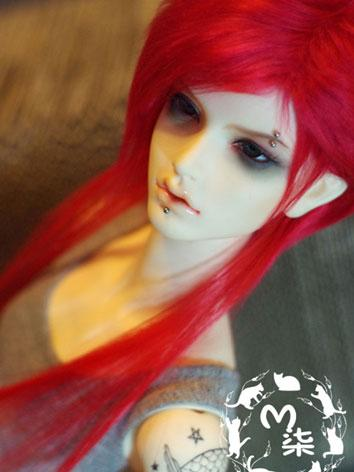 BJD Wool Wig Red Wig for 70...