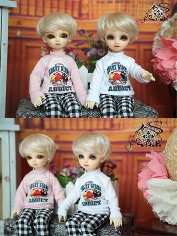 BJD Clothes White/Pink T-sh...