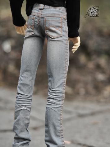 BJD Clothes Gray Jeans for ...