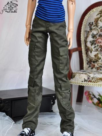 BJD Clothes Green Pants for...