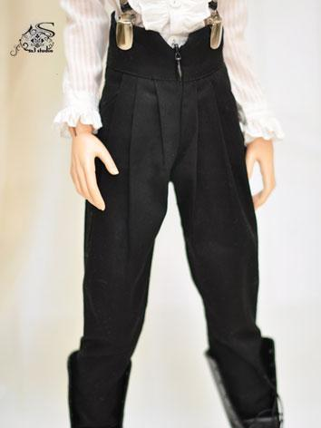 BJD Clothes Black Leisure Trousers for MSD/SD/70cm Ball-jointed Doll