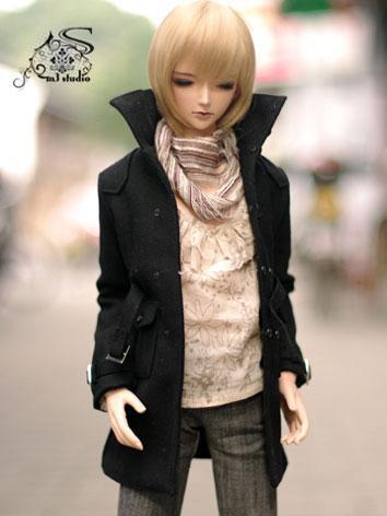 BJD Clothes Black Coat for ...