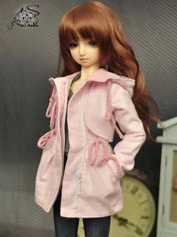 BJD Clothes Pink Coat for S...