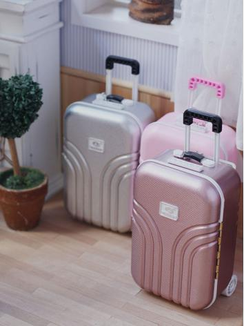 BJD Pink/Silver Mini Suitcase  Photography Props for SD/MSD/YSD Ball-jointed doll