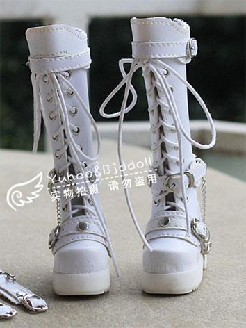 Bjd Shoes Black/White Boots...