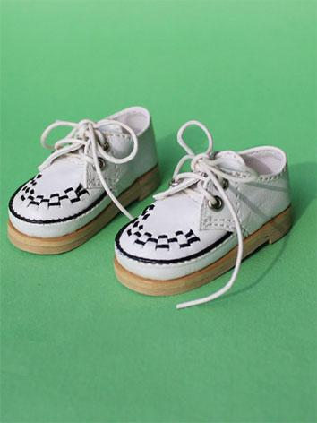 Bjd Shoes Boy/Girl White Pu...
