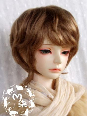 BJD Wig Golden Brown Short Wig for 70cm/SD/MSD/YSD Size Ball-jointed Doll