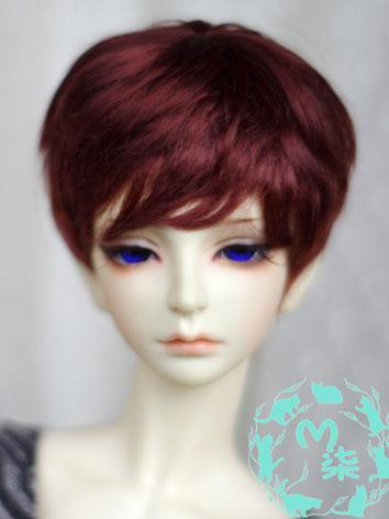 BJD Wig Wine Red Short Wig for 70cm/SD/MSD/YSD Size Ball-jointed Doll